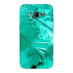 Cyan Feather Back Case Cover for Galaxy Core Prime
