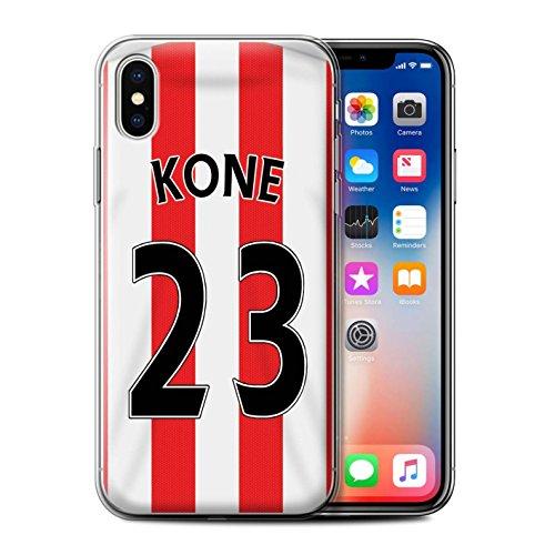 Offiziell Sunderland AFC Hülle / Gel TPU Case für Apple iPhone X/10 / Kone Muster / SAFC Trikot Home 15/16 Kollektion Kone