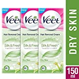 Veet Silk and Fresh Hair Removal Cream, Dry Skin - 50g Pack of