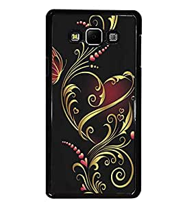PrintDhaba Floral Design D-5314 Back Case Cover for SAMSUNG GALAXY E7 (Multi-Coloured)