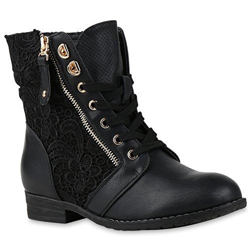 stiefelparadies-bottines-classiques-femme-noir-noir