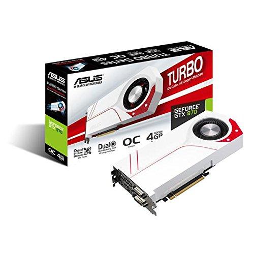 Asus TURBO-GTX970-OC-4GD5 Nvidia GeForce Gaming Grafikkarte (PCIe 3.0 x16, 4GB DDR5 Speicher, HDMI, 2x DVI, 3x DisplayPort) (Nvidia 970 Asus)