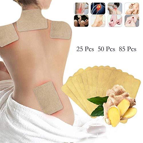 Lymphatische Detox Healing Ingwer Patch, Detox Foot Patches für Frauen Männer Nacken Schulter Taille Bein fördert die Durchblutung und Schmerzlinderung
