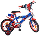 TOIMS Spiderman Kinderfahrrad Mixed Bike 35,6 cm blau