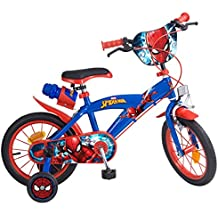 toims Spiderman bicicleta infantil (, color azul, tamaño 14 pulgadas