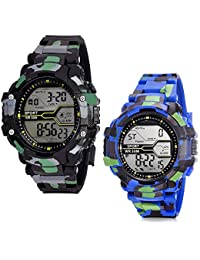 Digital Army Sports Watch Combo by Squirro for Mens and Boys (Set of 2) - sq_Army_06