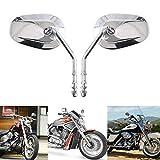 Motorrad Spiegel, Motorrad lenkerendenspiegel 8MM Rückspiegel Kompatibel mit Davidson Sportster XL1200L XL883 1200 Fatboy Softail Dyna Touring 2006-2016 - Sliver Rückseitenspiegel