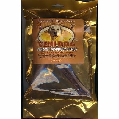 Veni-Dog - Pure Venison Marrow Bones - Treats For Dogs - 100% Natural Air Dried Venison 225g