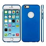 kwmobile Custodia in TPU silicone semplice ma elegante con telaio per il Apple iPhone 6 / 6S in blu