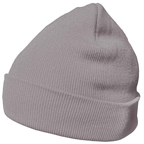 DonDon gorro de invierno gorro de abrigo diseño clásico moderno y suave  Gris claro a7587d2436c
