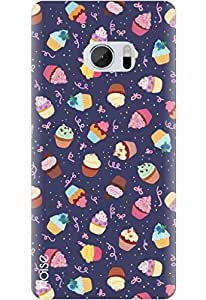 Noise Designer Printed Case / Cover for HTC 10 / Nature / Muffins Traffic Blue