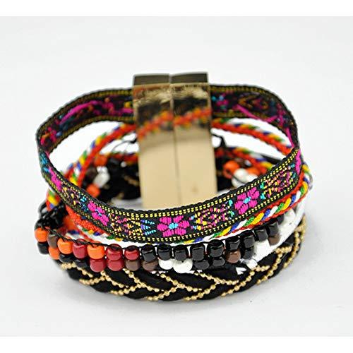 MHOOOA Armband Armreif Sommer brasilianischen Stil Armbandhandgemachte Armbänder & Armreifen Böhmen Armband für Frauen Charme Armbänder - Brasilianischer Schmuck