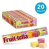 Fruittella Summer Fruit, zachte snoepjes – grootverpakking met 20 rollen: natuurlijke smaken en kleurstoffen, snoepjes met fruitsap