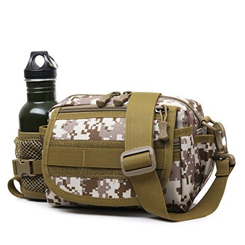 Zll/2016Neue Tactical Multifunktionale Wandern Outdoor Herren und Frauen Travel Wasserkocher Tasche Beige