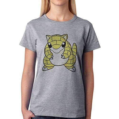 Pokemon Sandshrew Sand Ground Simple Damen T-Shirt Grau