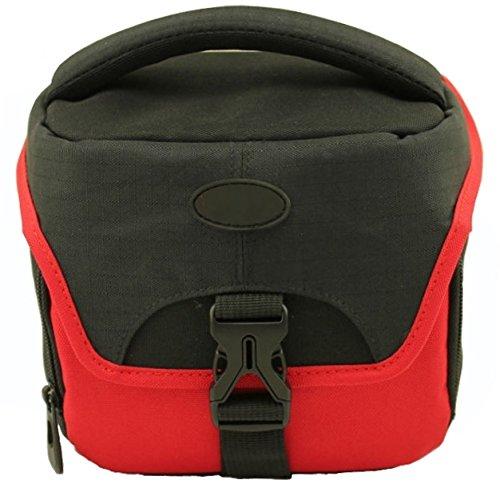 Zubehör Starterset für Nikon Coolpix B500 B700 - modische Kameratasche S2004 Star rot + equipster Displayschutzfolie
