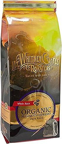 Mt, Whitney Coffee Roasters, Organic Whole Bean Coffee, Mammoth Espresso, Dark Roast, 12 oz (340 g)