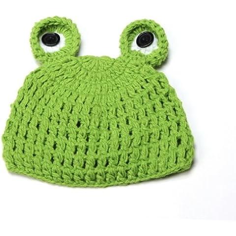 V-SOL Ropa Disfraz Fotografía Proposición Verde Rana Gorro Para Bebé 0-24 Meses
