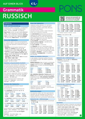 PONS Grammatik auf einen Blick Russisch (PONS Auf einen Blick, Band 25)
