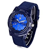 XBY.mi 1PCS Swiss Fashion Militäruhr Military Sportuhr Blue Watch