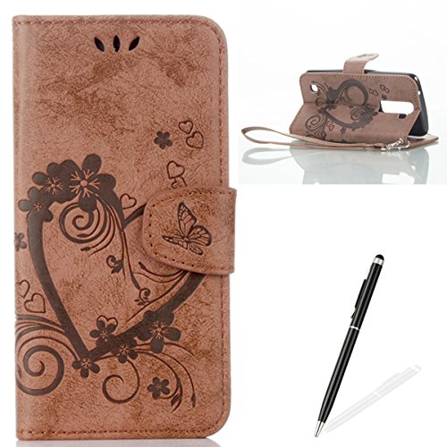 feeltech-lg-k8-flip-case-luxury-embossed-heart-butterfly-series-design-pattern-premium-ultra-slim-pu