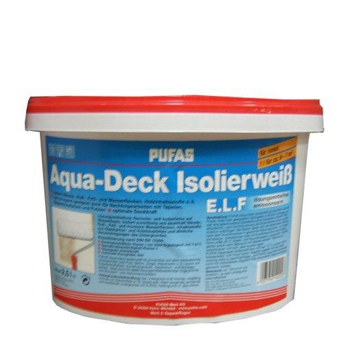 Pufas Aqua-Deck Isolierweiß ELF Nikotinsperre 10 Liter (Aqua Deck)