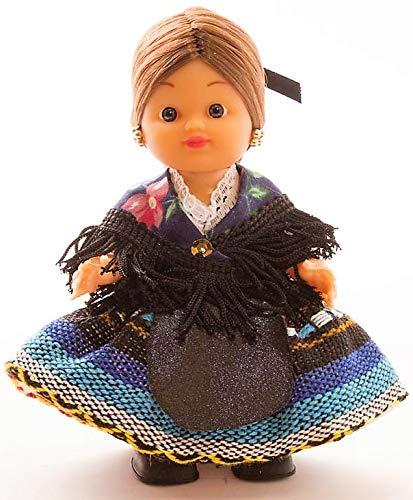 Folk Artesanía Muñeca artesana de 15 cm con Vestido Regional típico Alpujarreña (Granada)