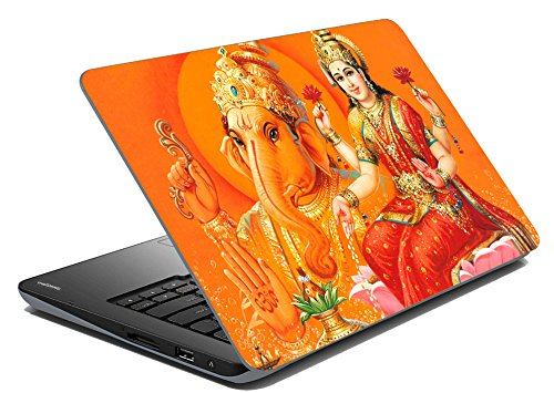 lakshmi-ganesh-laptop-skin-notebook-skin-sticker-cover-art-decal-fits-141-inches-to-156-inches