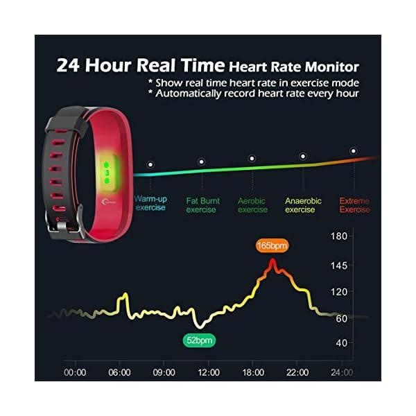 CHEREEKI Pulsera Actividad, Fitness Tracker IP68 Impermeable 14 Modos de Ejercicio 2