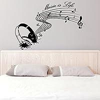 (100 x 67 cm) de la pared del vinilo adhesivo wallkraft música es Vida