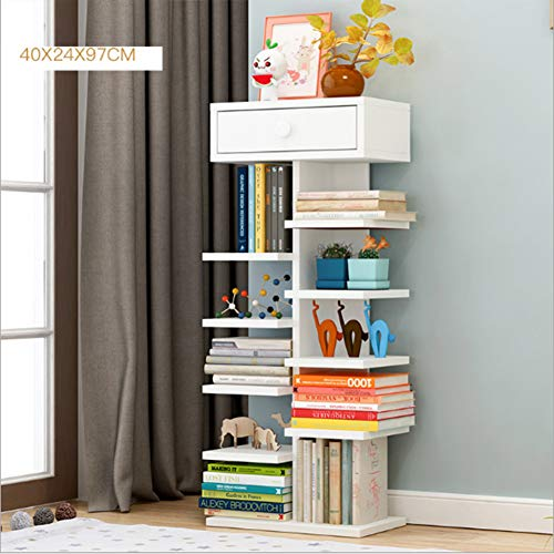 Rright! Modernes Bücherregal Bücherregal Vitrinenschrank Organizer Regale Abnehmbar (Selbstmontage) Home Office Deco 40 * 24 * 97Cm,C