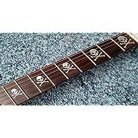 Skull Bones Deluxe FRET Markers Inlay stickers autocollants Guitar & Bass Diapason