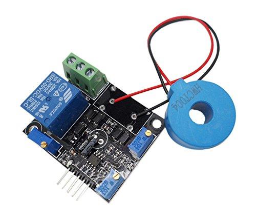 Dc-sensor (Aihasd DC 5V Current Detector Sensor Module AC/Short Circuit Detection Max AC 50A Digital Output)