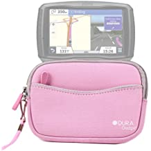 DURAGADGET Funda Rosa De Neopreno Con Bolsillo Externo Para Navegador GPS Garmin Zümo 590 LM - Con Cuerda De Quita Y Pon Para Transportar