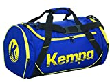 Kempa SPORTS BAG 30 L (S) - Sac de sport - Taille 49*26*24 cm - Ouverture en U - bleu profond/noir/jaune citron
