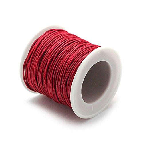 RUBY- Hilo Encerado 1mm 45m Rojo