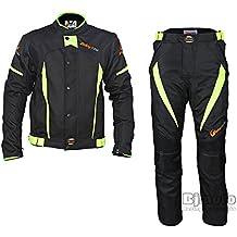 Venta caliente verano moto Racing chaqueta pantalones trajes pantalla impermeable y a prueba de viento motocross Protective Gear body armour proteger con maletero pantalla