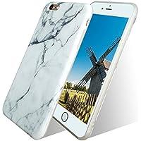 Funda iPhone 8, Funda iPhone 7, Veotech iPhone 7 Case Mármol iPhone 8 Case Alta Calidad Anti-Rasguño Protectora Silicone Caso para iPhone 8 y iPhone 7 - mármol blanco