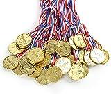 Cusfull 36 x Goldmedaille Gewinner Gold Medaillen aus Kunststoff für Kinder Party Spielzeug