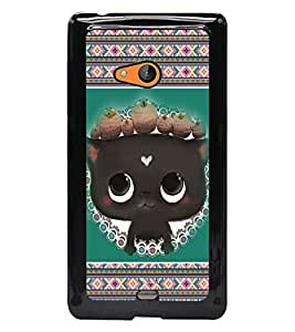 PrintDhaba Kitty D-3685 Back Case Cover for MICROSOFT LUMIA 540 (Multi-Coloured)
