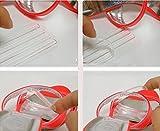 Tiras de transparente de silicona fina fija de cuidado del calzado zapatos tacones Grips inserciones...