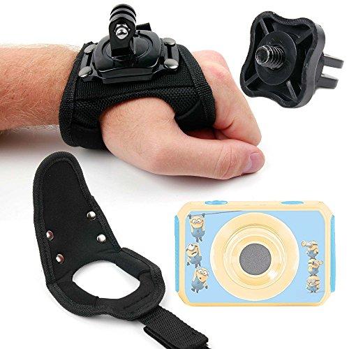 Duragadget fascia/cinturino da polso per action cam videocamera digitale lexibook cars move cam dja400dc - frozen move cam dja400fz - cattivissimo me dja400des