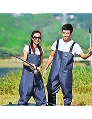 morebeauty mujeres pantalones con cornamusa suela de neopreno impermeable pantalones de pesca de pantalones pantalones, 41
