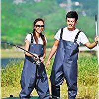 Morebeauty Women Chest Wader with Cleat Sole Waders Waterproof Pants Trousers Fishing Pants