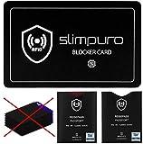 RFID Blocker Störsignal Karte mit 2 x TÜV geprüften RFID Reisepass NFC Schutzhüllen - Eine Einzige Karte schützt Ihre gesamte Geldbörse - Kreditkarte, Personalausweis, EC-Karte, Bankkarte, Ausweis