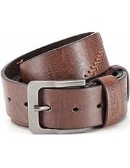 Ceinture de designer, ceinture en cuir PU Jean ceinture avec gaufrage et couture, largeur 3,8 cm, unisexe