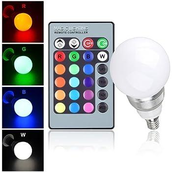 Lampadina led rgb multicolore e14 cambia colore lampada for Lampada a lampadina