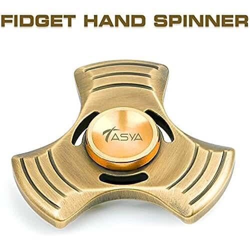 fidget spinner el nuevo juguete de moda Tasya Fidget mano Spinner estrés relevista enfoque escritorio de juguete para EDC, ADD, ADHD, autismo. Altamente Durable antiguo cojinete alemán híbrido de cerámica Metal, ultra rápida. Gira hasta 6 minutos. Para adultos y niños