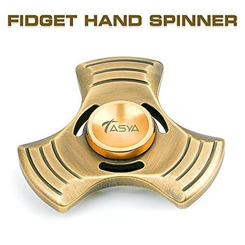 Fidget repoussoir par Tasya : Doigt métallique jouet pour soulager le Stress, réduction de l'anxiété et EDC, ADD, ADHD et personnes souffrant d'autisme
