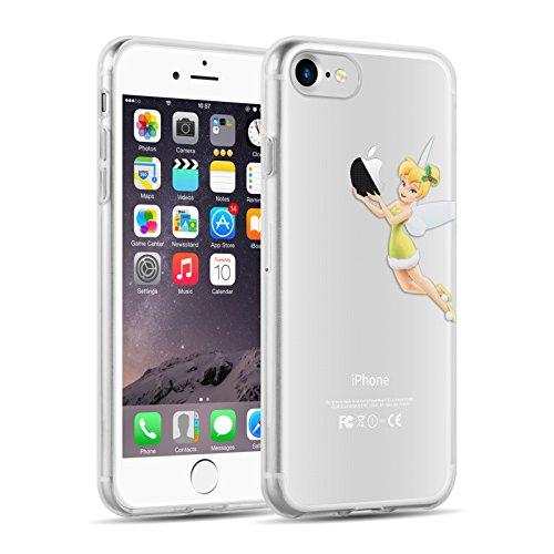 Cover iPhone 8 Cover iPhone 7, JAMMYLIZARD [Sketch] Custodia in Silicone Trasparente Semi Morbido Ultra Slim con Disegno per Apple iPhone 8 e Apple iPhone 7, CARTOON 12